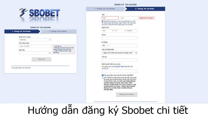Cách đăng ký tài khoản nhà cái SBOBET