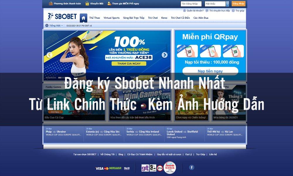 Link đăng ký Sbobet mới nhất không bị chặn