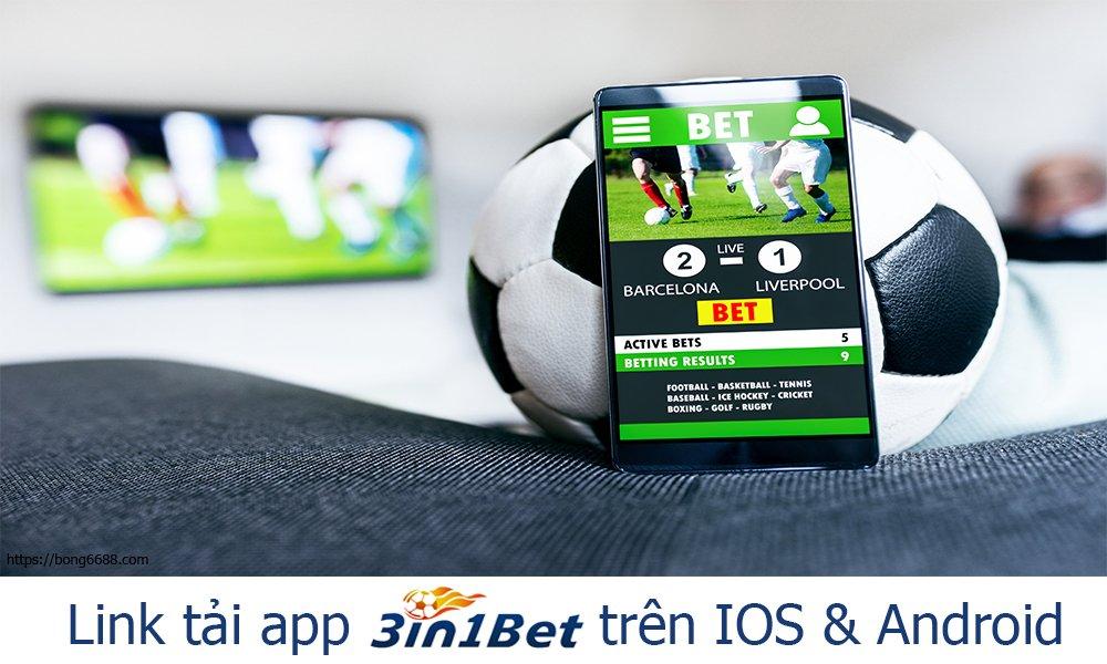 Link tải app 3IN1BET trên IOS & Android
