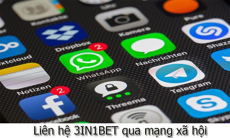 Liên hệ 3IN1BET qua mạng xã hội