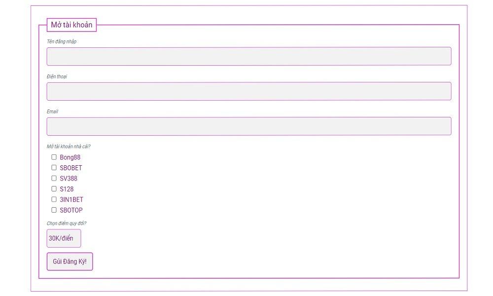 form đăng ký Bong88